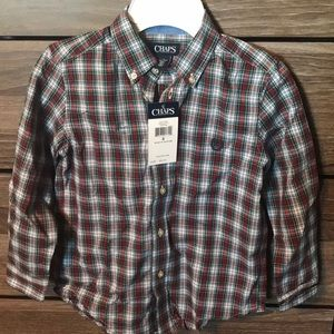 Chaps boys size 6 button down shirt